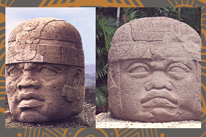 Dos cabezas colosales olmecas