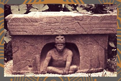 Escultura en relieve de arte Olmeca