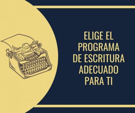 Elegir programas de escritura de guion