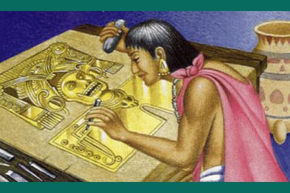 mixteca pintando a un Dios