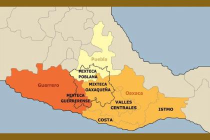 Mapa de la cultura mixteca
