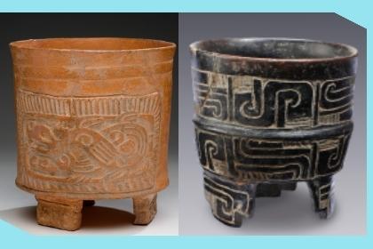 Vasijas de barro y piedra pulida de Cerámica teotihuacana