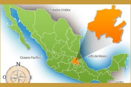 Mapa de México con la ubicación de los Toltecas