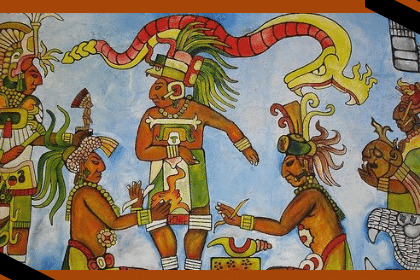 Pintura de la religión zapoteca