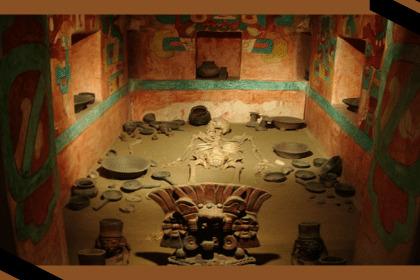 Representacion del arte funerariocomodaban piezas religiosas para ayudar a los muertos