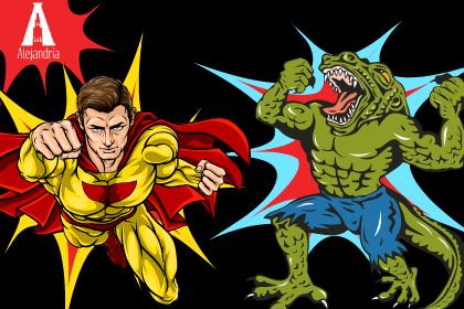 Héroe y villano