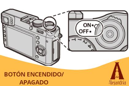 botón de encendido y apagado de una cámara