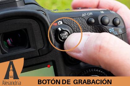 botón de grabación de una cámara