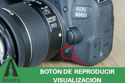 botón de reproducción de una cámara
