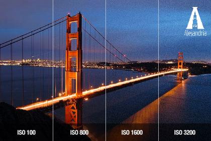 Foto con distintos niveles de ISO