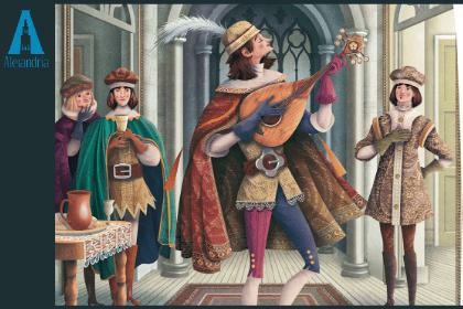 Un juglar narrando y cantando