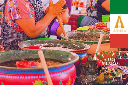 ollas con comida mexicana