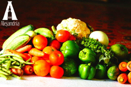 Ingredientes frescos para los antojitos mexicanos