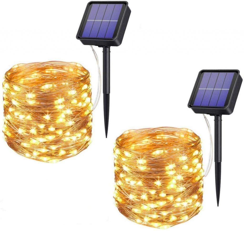 luces solares navideñas
