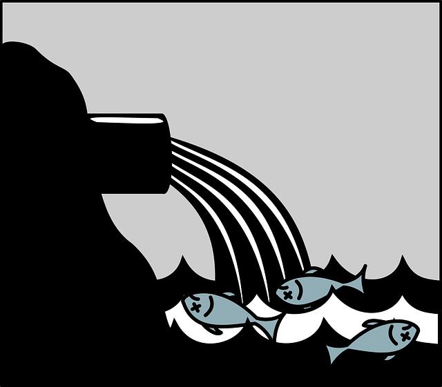 productos quimicos en el mar