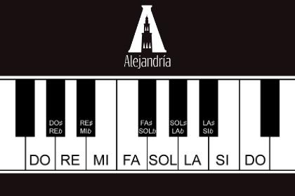 Piano con intervalos musicales